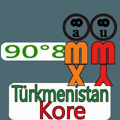 90°8 トルクメニスタン -韓国