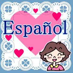 [LINEスタンプ] ♥使うとレースが現れるよ♥スペイン語挨拶の画像(メイン)