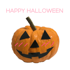 実写かぼちゃハロウィンスタンプ