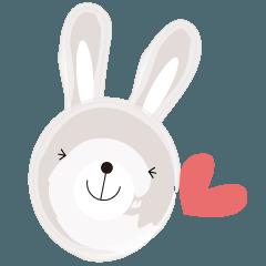 のほほんフレンチなクマとウサギ