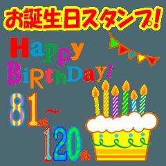 81歳~120歳★お誕生日ケーキ★毎年使える