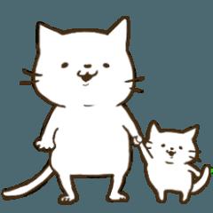 白猫親子のドタバタ育児スタンプ