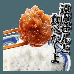和歌山弁うめぼしスタンプ