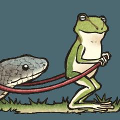カエルときどきヘビ