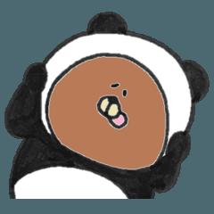 汗かきくまさん パンダになりたい