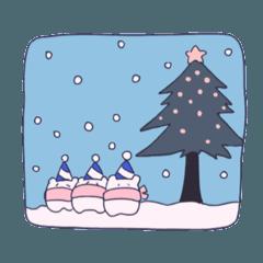 冬のスタンプ(クリスマス/お正月)