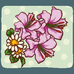 カラフル花♪《デカ文字》基本セット