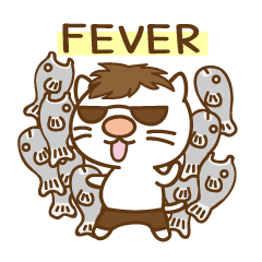渋め猫のKさん<日常用シンプルスタンプ>