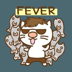 [LINEスタンプ] 渋め猫のKさん<日常用シンプルスタンプ> (1)