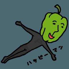 [LINEスタンプ] 野菜のだじゃれ 2 (果物、きのこも