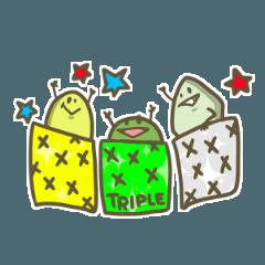 [LINEスタンプ] サプリメント ト トリプル4