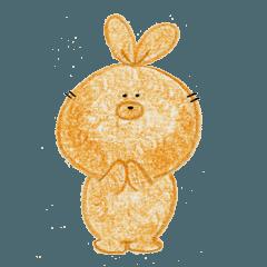 [LINEスタンプ] Fluffy rabbit U-ta
