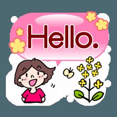 かわいい女子のあいさつ集(英語版)