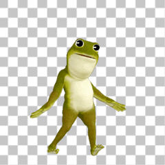非常に動くカエル
