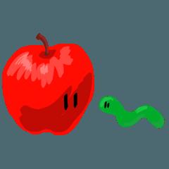 かわいいりんごちゃん。