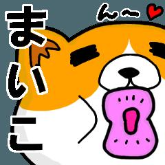 [LINEスタンプ] まいこより愛を込めて(名前スタンプ・猫)
