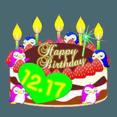 12月の誕生日☆日付入り☆ケーキでお祝い♪