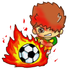 ヒーローになりたい少年。サッカー 2